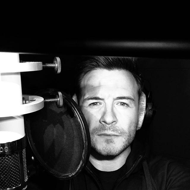 Shane in the recording studio, March 2019