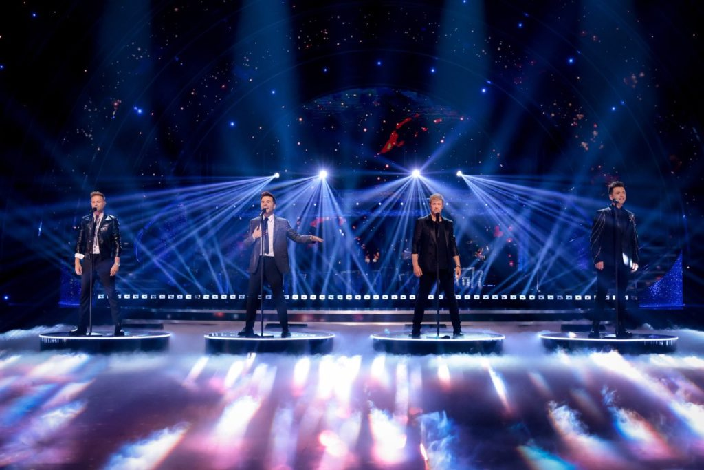 Westlife performing Starlight on Strictly Come Dancing